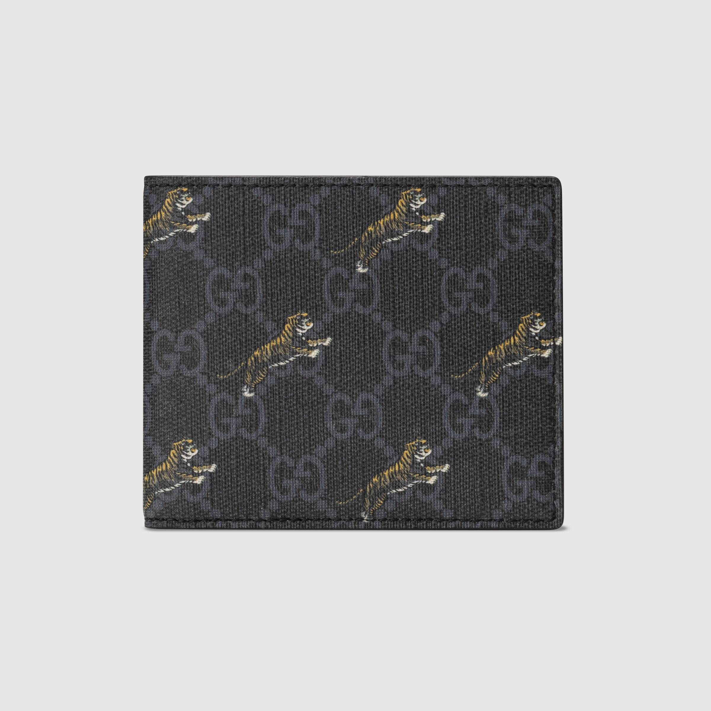 Gucci GG wallet with tiger print 575133 G2BAN 1087