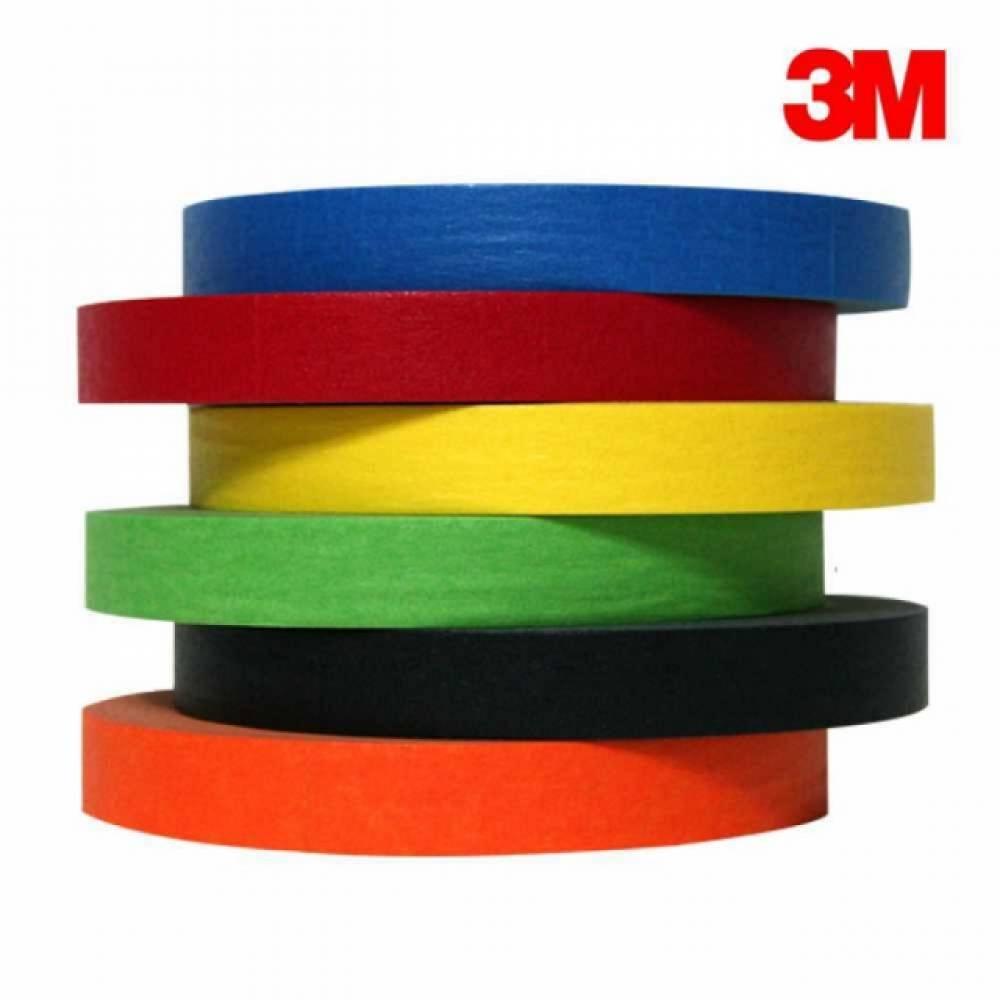 3M 칼라 종이 마스킹테이프 15mmx40M, 3M 주황색