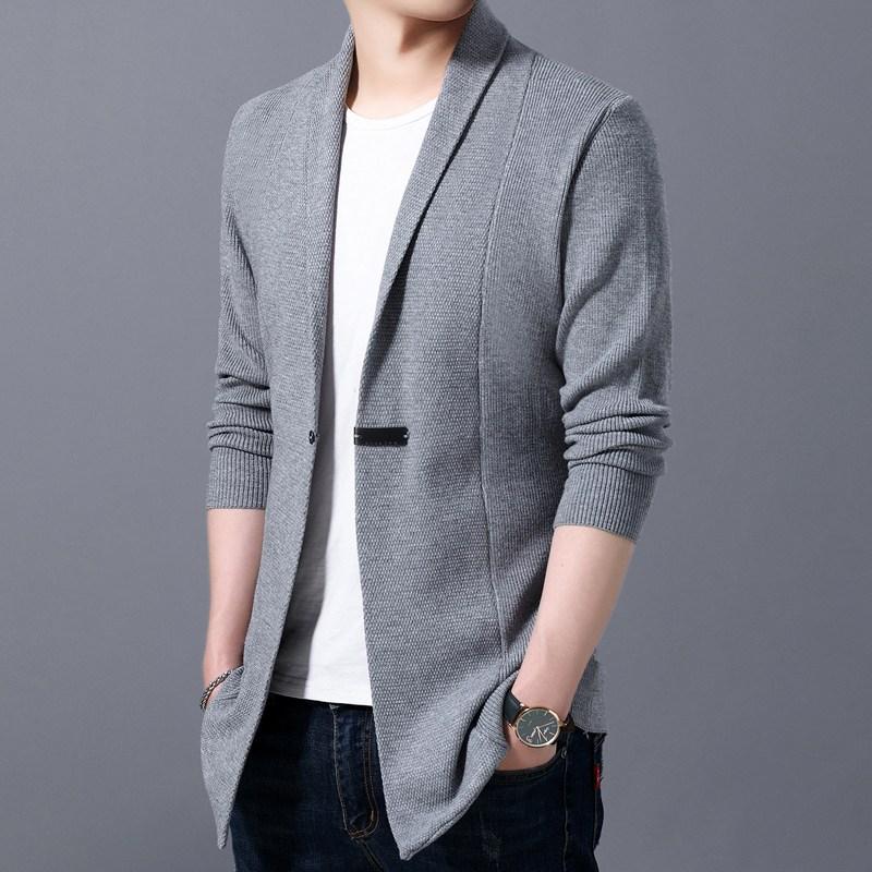 남자가디건 홍콩 유행 유행패션 기모옷