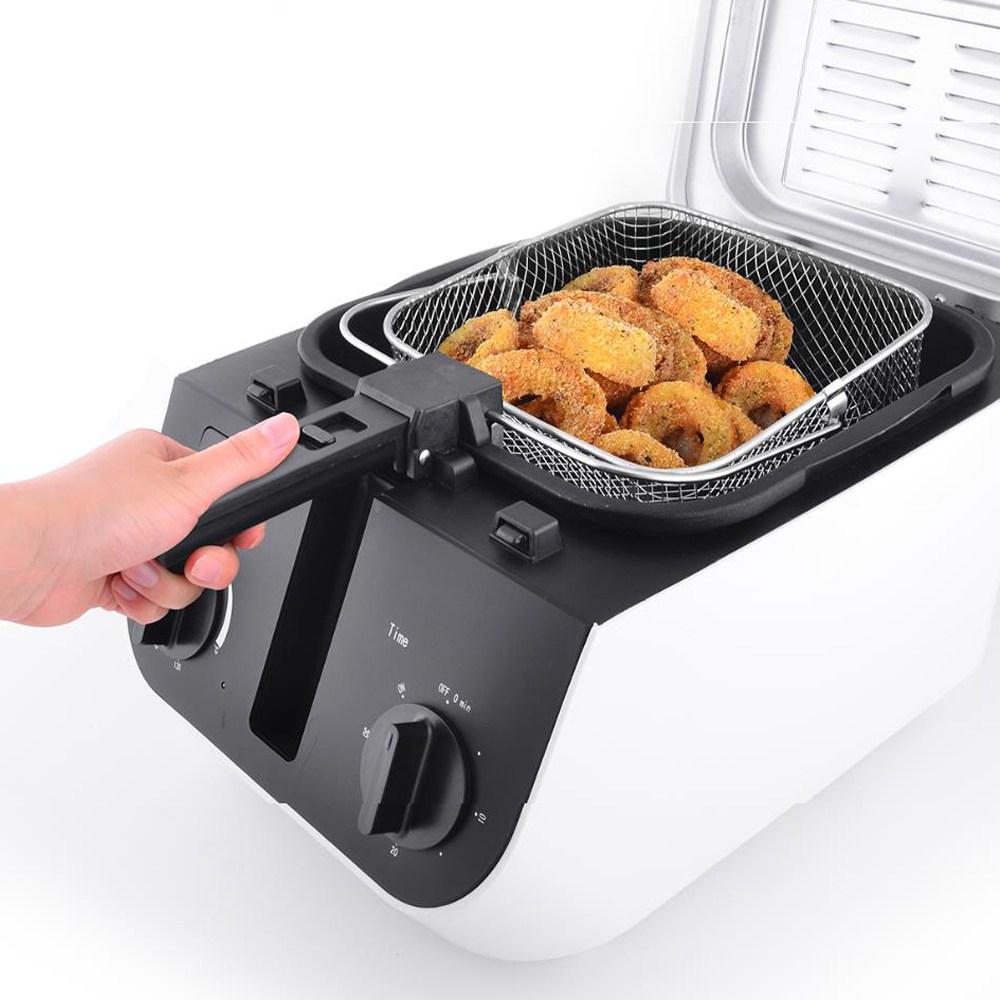 대우 2.5L가정용전기튀김기 용기분리형 온도 시간조절다이얼 250A, 대우2.5L전기튀김기 250A(블랙)