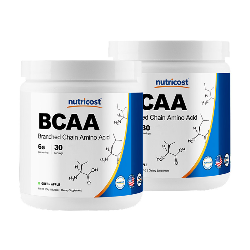 뉴트리코스트 BCAA 파우더 그린애플맛, 262g, 2개