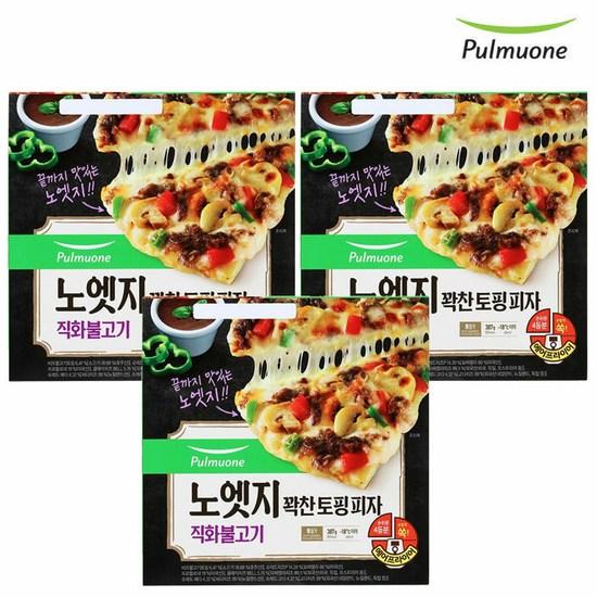 [K쇼핑][풀무원]노엣지 꽉찬토핑 피자 직화불고기x3판세트, 단일상품