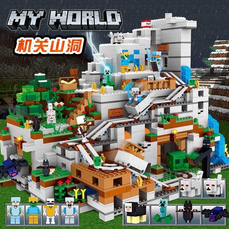 레고 마인크래프트 마인크래프트레고 산속동굴 21137 호환 중국레고 중소형[풀박스]