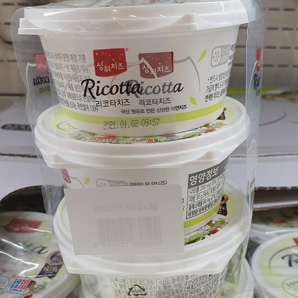 매일 리코타 치즈 200g x 3개입, 아이스팩 포장, 단일상품