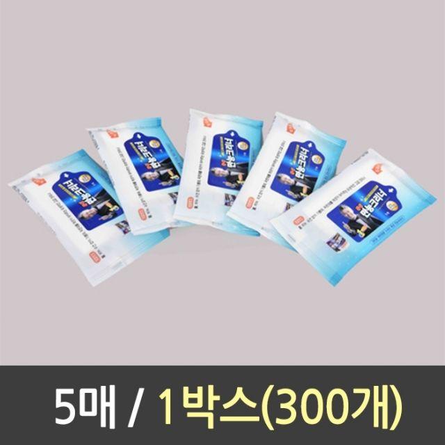 145 뽀야만물상 / 만능 크리너 휴대용 5매 1박스300개 바르는곰팡이제거제 화장실뚫어뻥 변기세척 다목적세제, 단일 수량
