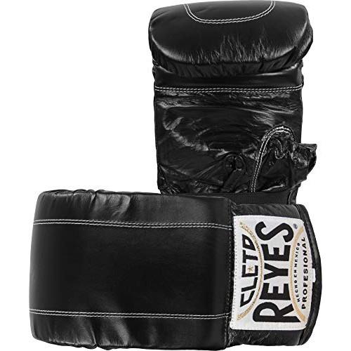복싱 킥복싱 무에타이 글러브 사이즈 택1 CLETO REYES Leather Boxing Bag Gloves - Black, 옵션 3 Size = Small