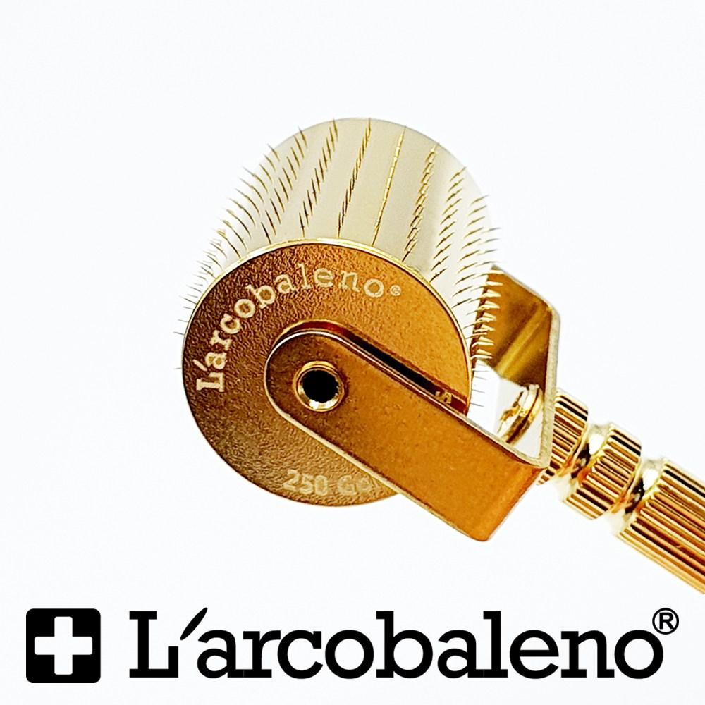 라르꼬발레노 MTS 금침 골드 더마 롤러 250핀(침 바디 금도금)+피부고민별 앰플증정, 1개, 0.25mm-선택사은품5