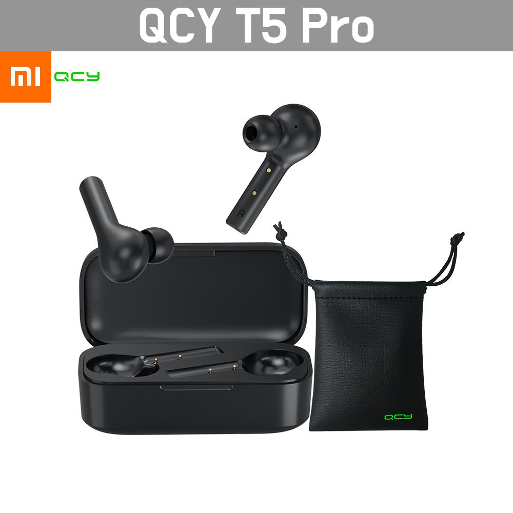 QCY T5 Pro 블루투스 이어폰 2020 최신형 파우치증정 재고보유, 블랙
