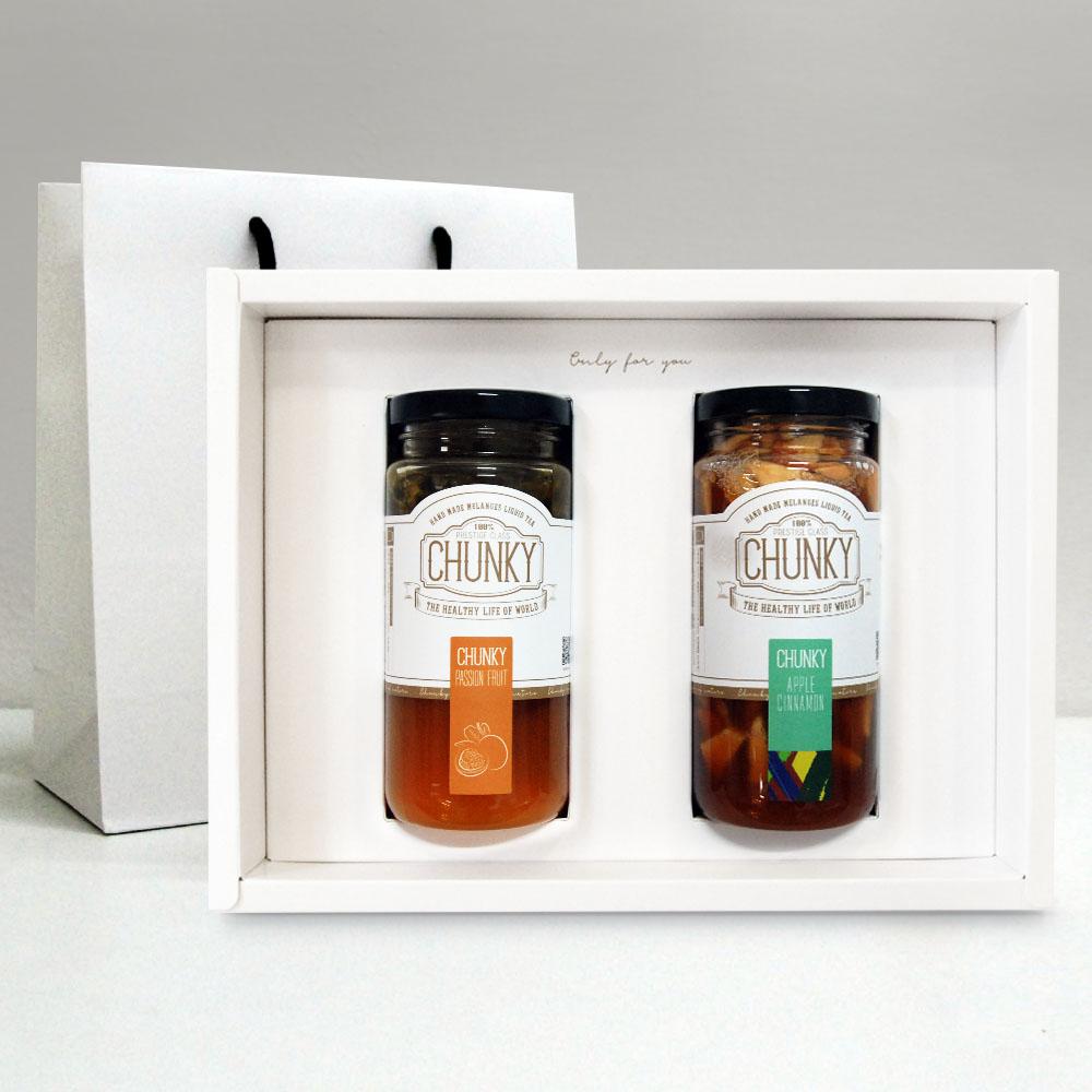 청키 수제청 설 선물세트 과일청 선물, 1세트, 패션후르츠청+애플시나몬청