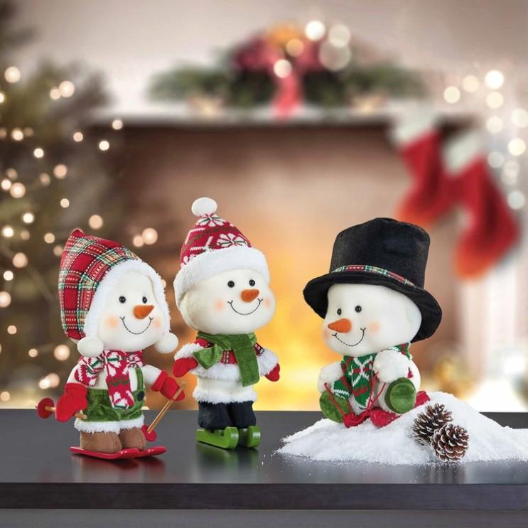 크리스마스 파티 트리 데코 장식 용품 눈사람 3종 세트, 1개