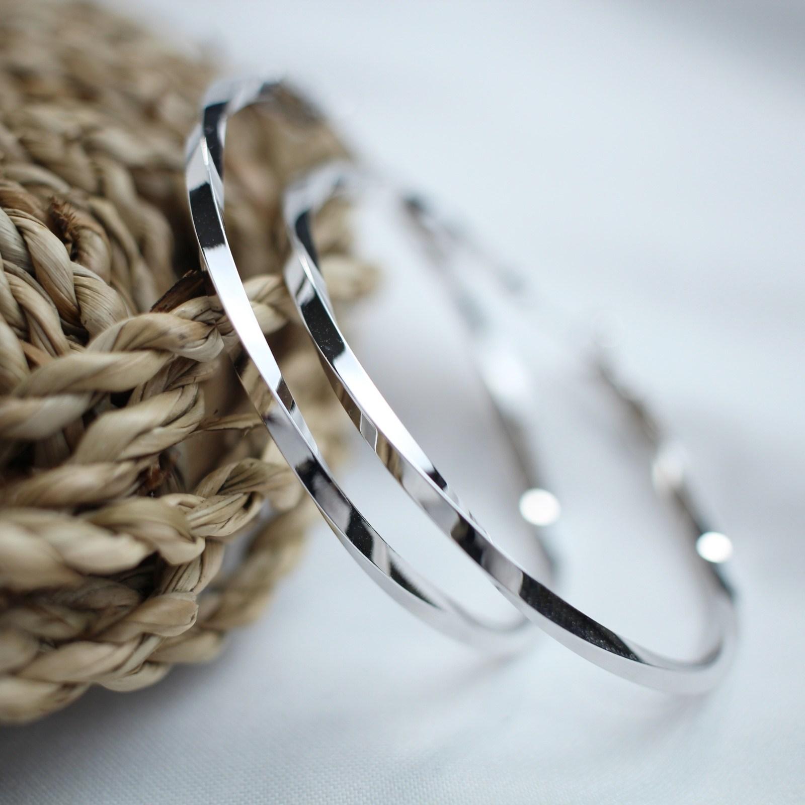 뿌앙 실버 925 은침 데일리 심플 4cm 5cm 6cm 꼬임 원터치 링 귀걸이