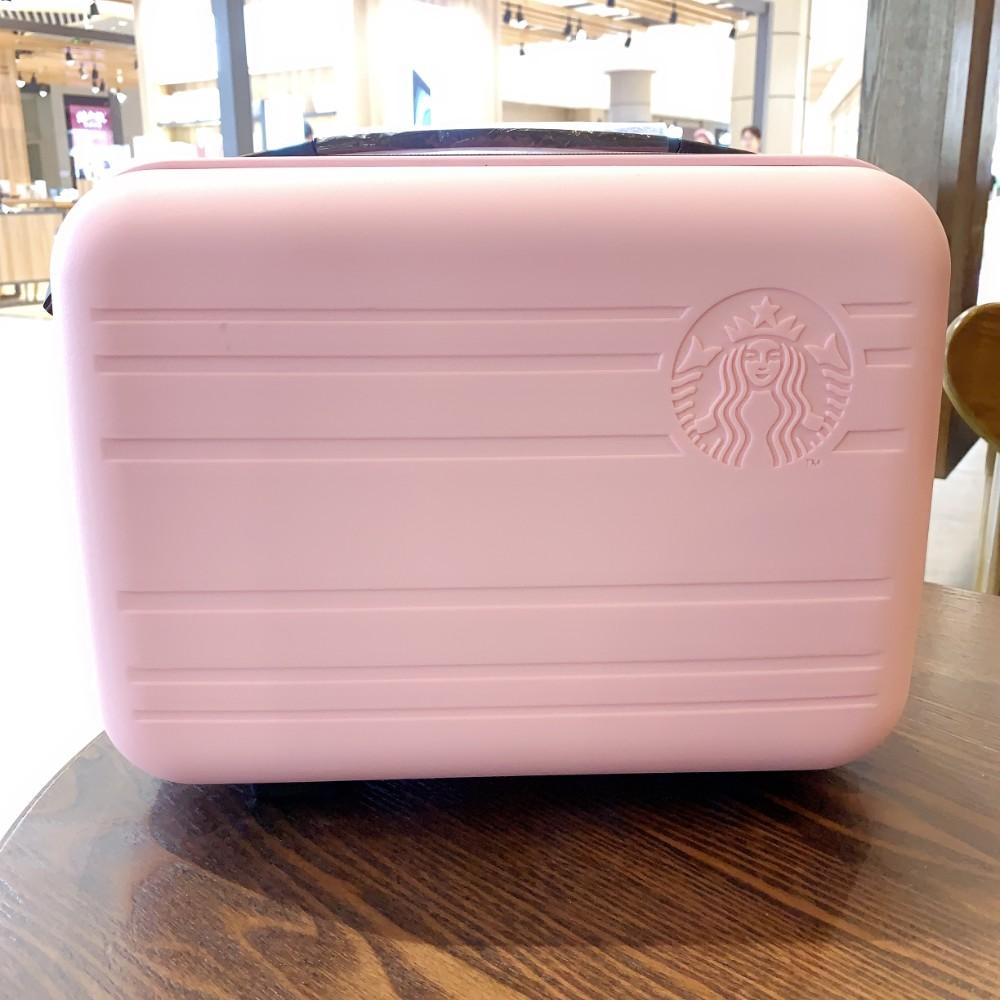스타벅스 서머레디백 캐리어 만들기 스벅 썸머 레디백 가방 기내용 야광 바퀴 1구 3구, 핑크 스타 벅스 미니 수트 케이스