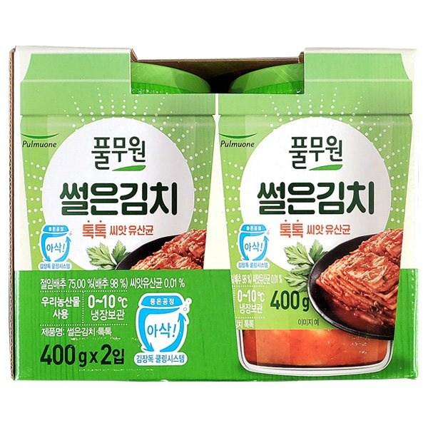 코스트코 풀무원 톡톡 썰은 김치 400gx2개 + 아이스포장 배추, 1개