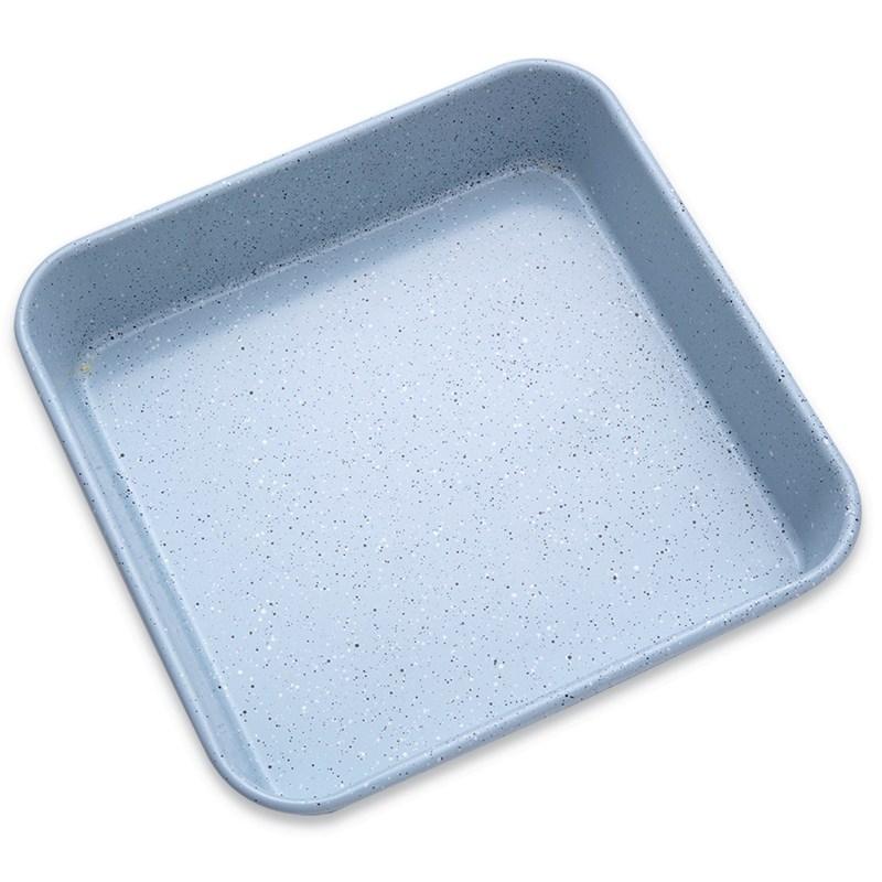 박준 9 인치 플러스 딥 스퀘어 플레이트 대만 카스테라 단단한 바닥 오븐용