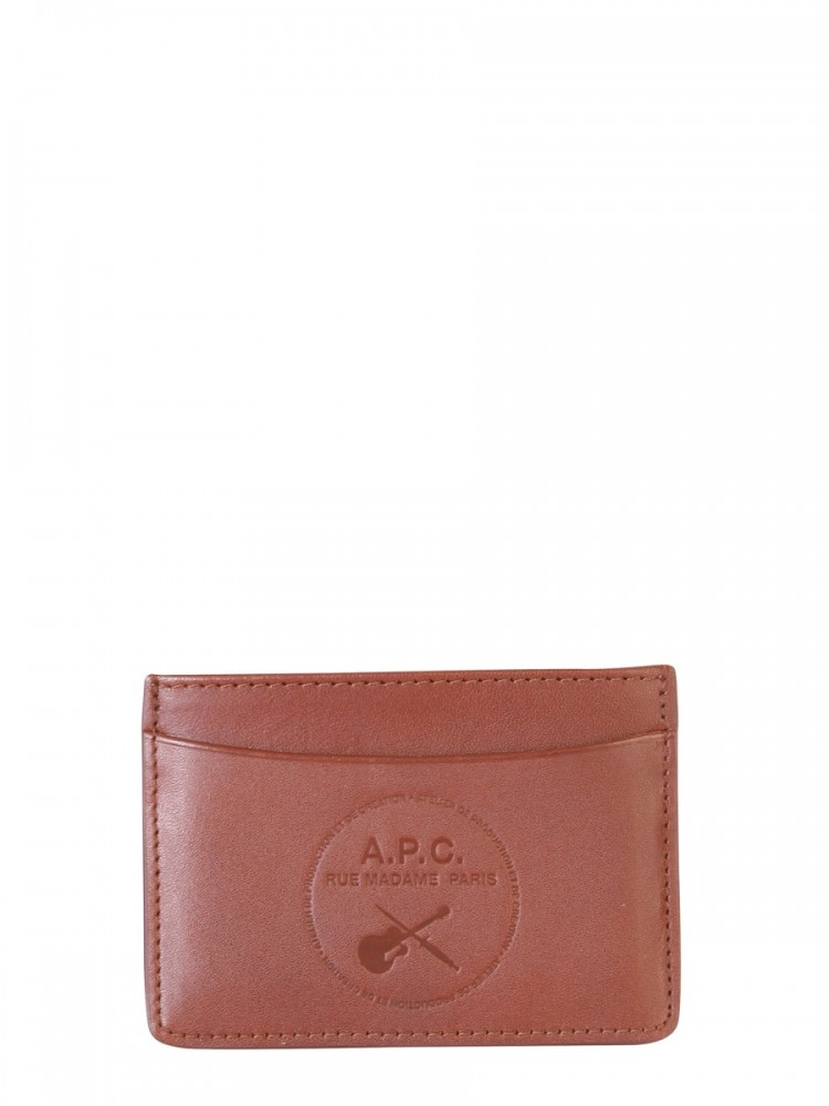 [APC] 남성 지갑 카드 홀더 위드 로고 PXAWVH63365_CADNOISETTE BROWN
