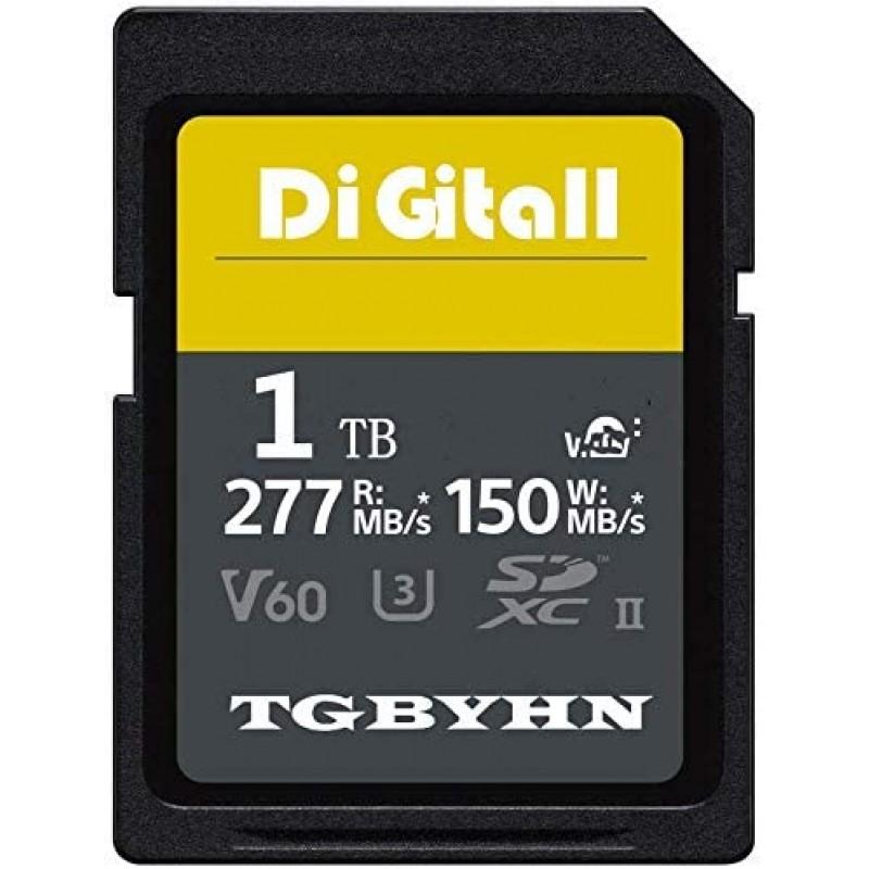 TGBYHN 디지털 시리즈 1024GB SDXC UHS-II 메모리 카드 V60 CL10 U3 최대 R150MB/S W277MB/S(150MB-1TB):, 1