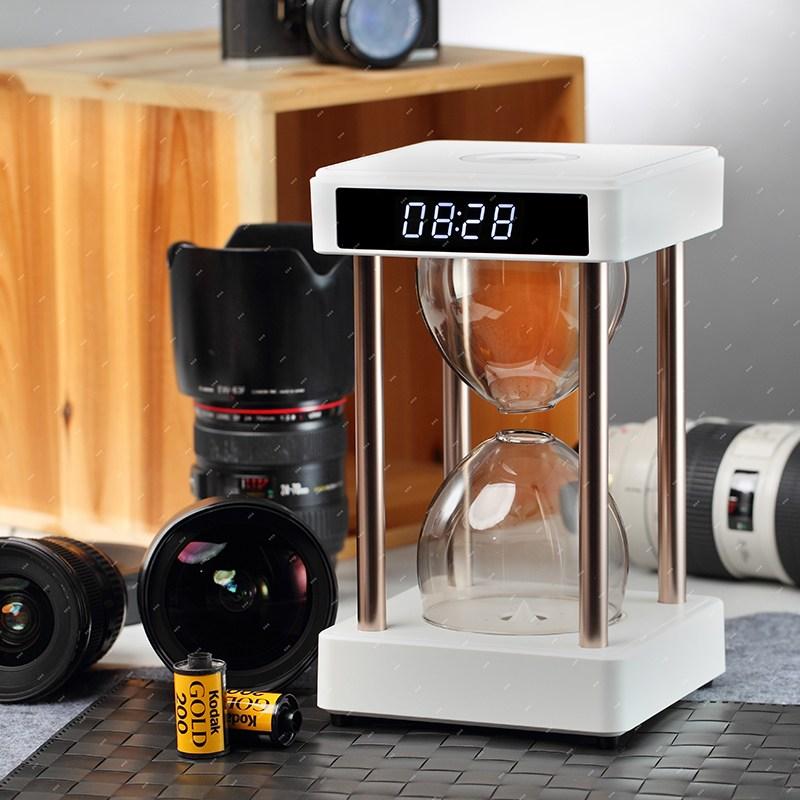 공기청정기 반중력 시간 모래시계 공기정화기 물방울 가습 블랙테크놀로지 침실 아이디어 테이블장식 종선물, T02-풍수 버전