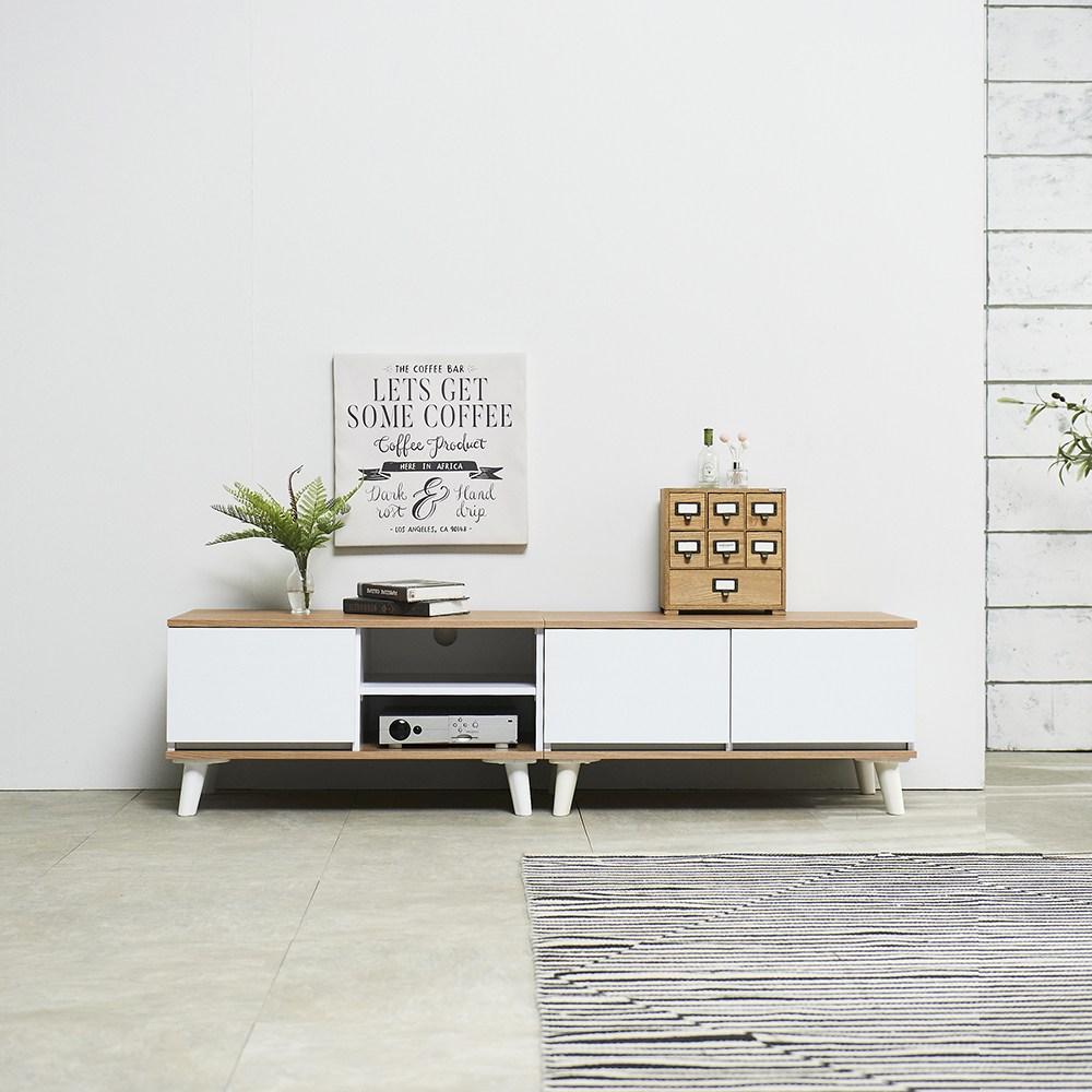 심플 800 TV 낮은 거실장 거실 수납장 장식장 테이블 티비 다이 선반 1인가구 원룸 장, 오픈형, 오크