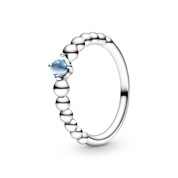 판도라 Aqua Blue (3월)탄생석 반지 198867C01