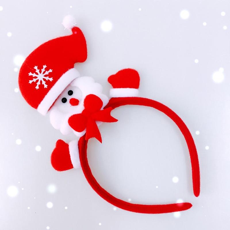 산타 클로스 머리띠 어린이 메리 크리스마스 장식 홈 새해 축제 파티 장식 크리스마스 소녀 헤어 액세서리 크리스마스 머리띠 , 1개, 1