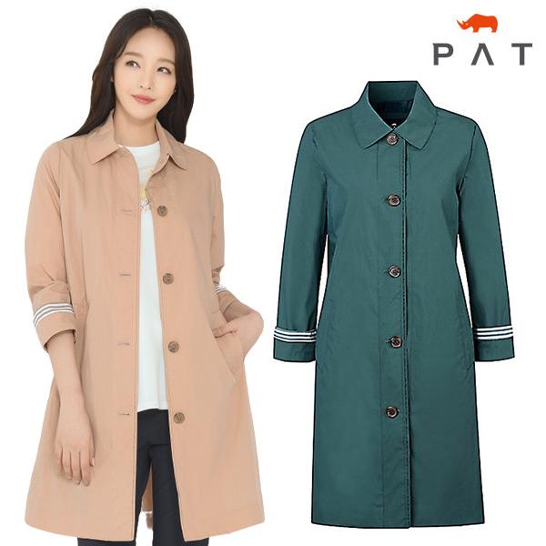 PAT PAT 여성 싱글 트렌치 코트_1E21107