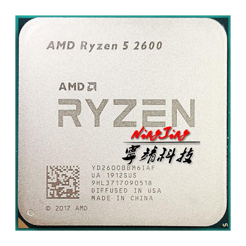 [해외]AMD Ryzen 5 2600 R5 2600 3.4 GHz 6 코어 12 코어 65W CPU, One Size, One Color