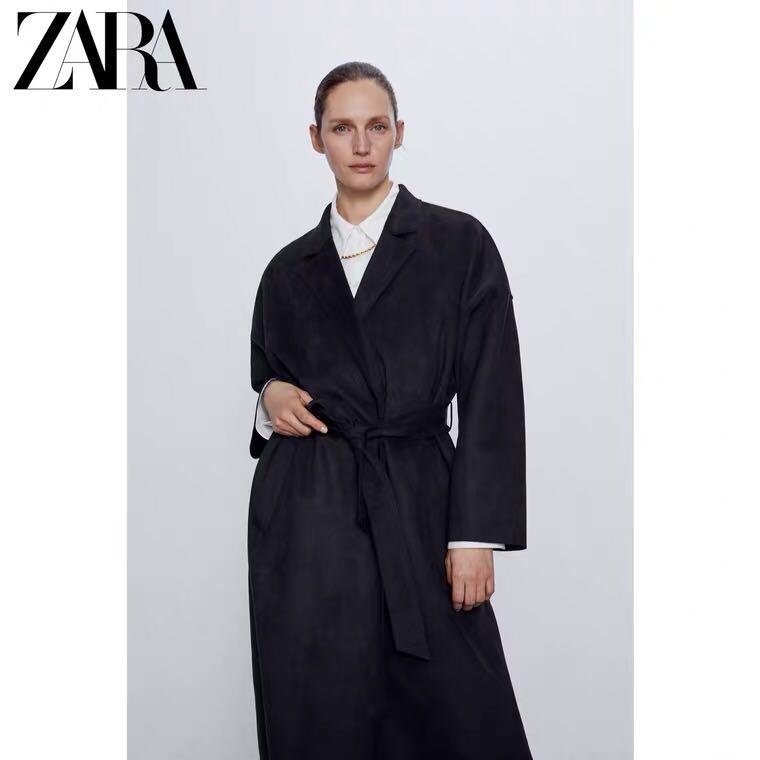 자라 ZARA 트렌치 스웨이드 롱 벨트 코트 2색