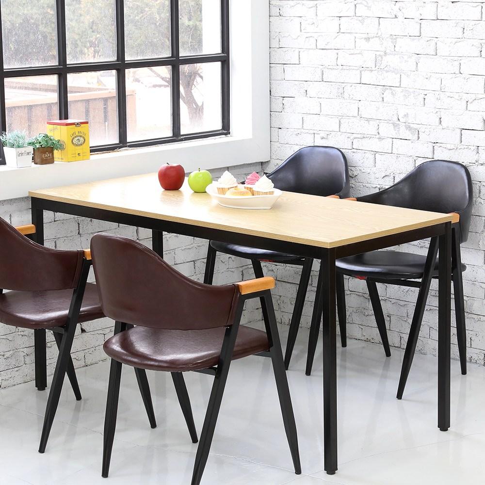 THEJOA 모던테이블 600 800 1000 1200 1400 카페/업소용/식탁/컴퓨터책상, 모던 1400 네추럴