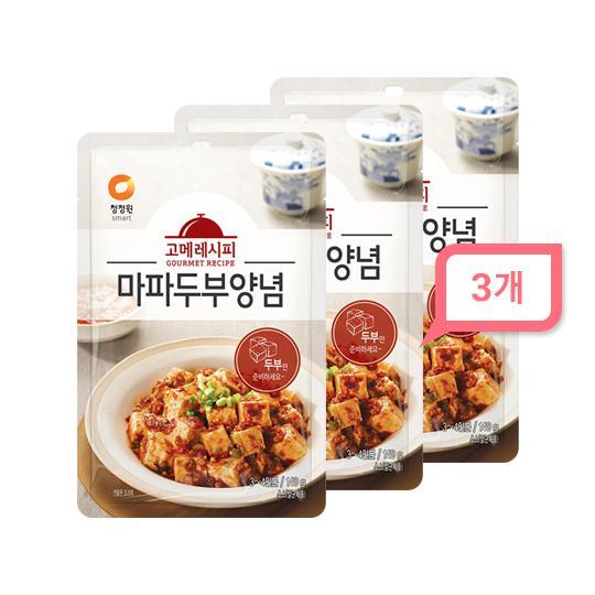 청정원 고메레시피 마파두부양념 140gx3개, 단품, 단품