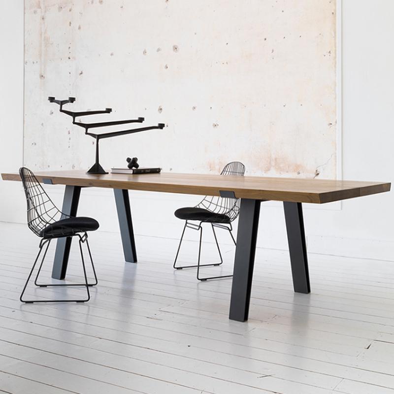 사무용책상 로프트 단단한 나무 테이블 사무실 책상 회의 테이블 간단하고 현대적인 단단한 나무 컴퓨터 테이블 훈련 테이블 산업 스타일 긴 테이블, 색상 분류: 참고 : 맞춤형 크기 및 색상은 고객 서비스에 문의하십시오.