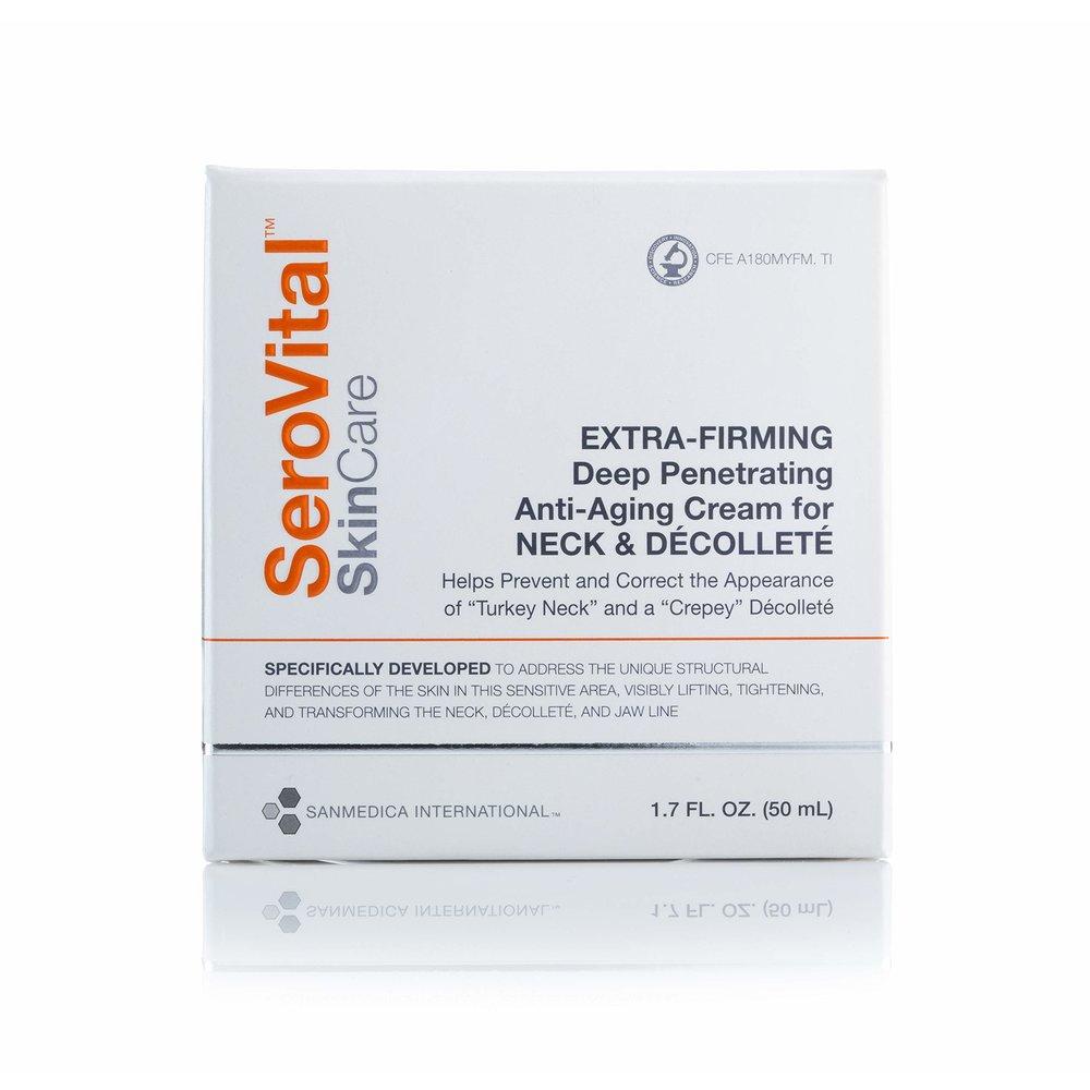 Serovital SkinCare Anti-Aging Cream for Neck & Decollete 세로바이탈 스킨 케어 안티 에이징 넥 퍼밍 크림 1.7oz(50ml), 1개