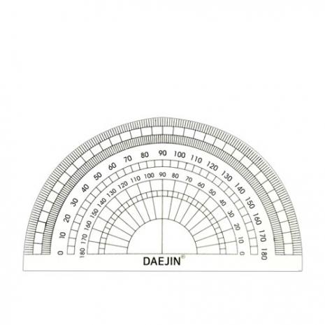 [대진교육] 각도기 초등준비물 10cm 신학기준비, 5개 (POP 4695692118)