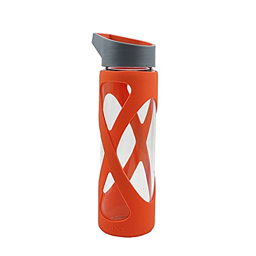 LOCK & LOCK 락앤락 -X 형 내열 유리 컵 (510ml) LLG931R 오렌지