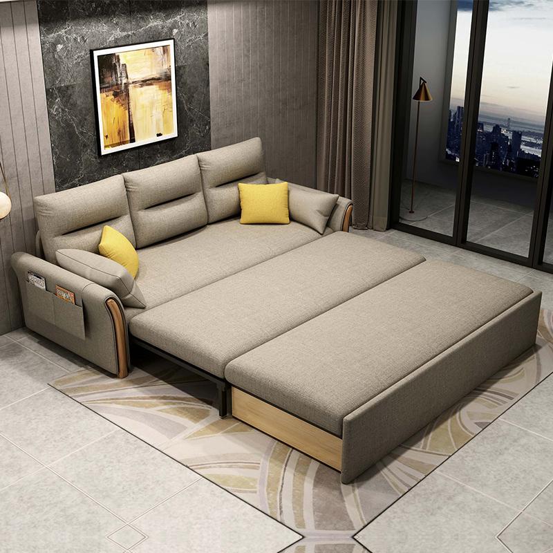 소파베드 이케아 접이식 좁은거실 쇼파 거실매트리스 침대 겸용 다기능 패브릭 더블 작은, 1.3m 외경 스폰지 다색 옵션 비고는 고객 서비스에, 1.5m-1.8m