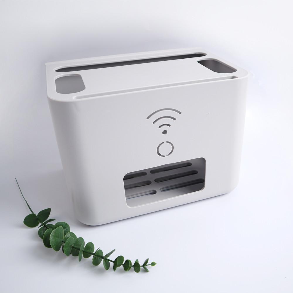 핫버튼 셋탑박스 셋톱박스 공유기 와이파이 정리함 수납함 숨기기 정리 거치대 멀티탭, 2단 셋탑 정리함, 화이트-4-4891066629