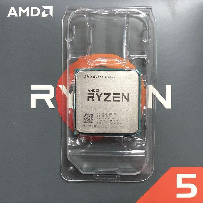 [해외]AMD Ryzen 5 2600 R5 2600 3.4GHz 6 코어 12 스레드 CPU, CHINA, One Color
