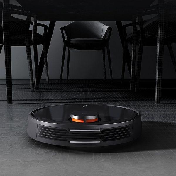 샤오미 미지아 LDS레이져 로봇청소기 3 청소 로봇 스마트 홈 자동 청소, 블랙