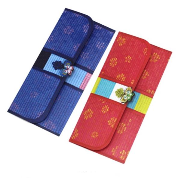 YMK 1pc 새뱃돈 봉투 현금 상품권 통장 명절 다용도 복 문구 용돈 선물 기념 종이 다기능 전용 돌잔치 설날, 1개, 랜덤 색상