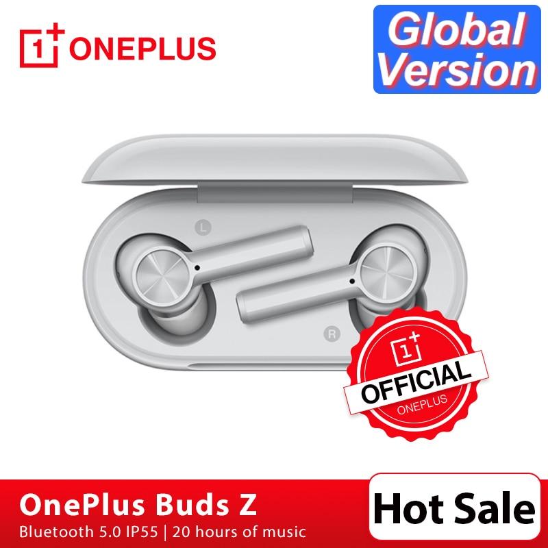 글로벌 버전 OnePlus Buds Z 무선 이어폰 TWS Bluetooth 5.0 IP55 OnePlus 8T Nord 8 pro N10 용 방수 고속 충전|블루투스 이어폰 &, 1개, Gray, 스페인