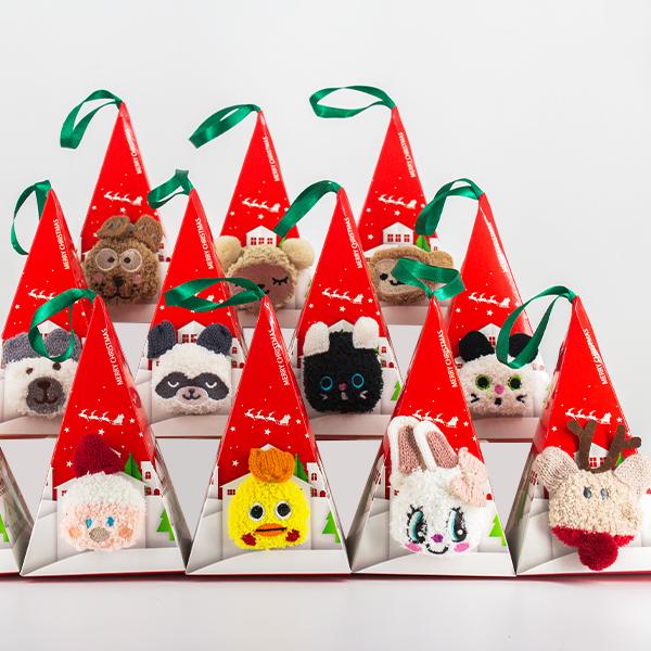캐릭터 수면양말 애니멀 동물 크리스마스 패키지 어린이집 선물 포장(박스포함)