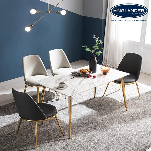잉글랜더 브레아 RB세라믹 4인용 식탁(의자 미포함) 식탁세트, 마블화이트