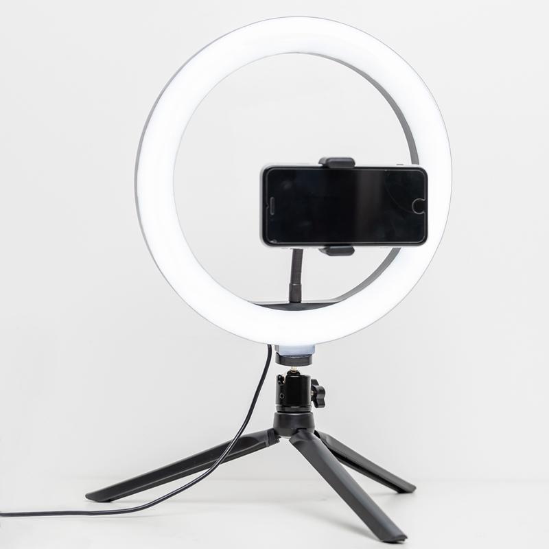 알파믹 더 밝은 LED 링라이트 방송용 지속광 유튜브 삼각대 풀 세트
