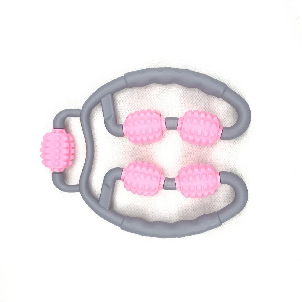 운동 직후 종아리 마사지 롤러 마사지기 하체 허벅지 마사지도구 기계 휴식시간 발 다리 붓기 목 경추 전신, 분홍, 1개