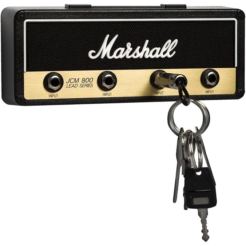 라이센스 마샬 잭 랙-벽면 설치 기타 앰프 키 행거. 4 개의 기타 플러그 키 체인과 1 개의 벽 장착 키트가 포함되어 있습니다., 단일옵션, 단일옵션