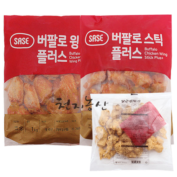천지농산 사세 천지농산 버팔로스틱1kg+버팔로윙1kg+근위튀김200g, 3개, 2.3kg
