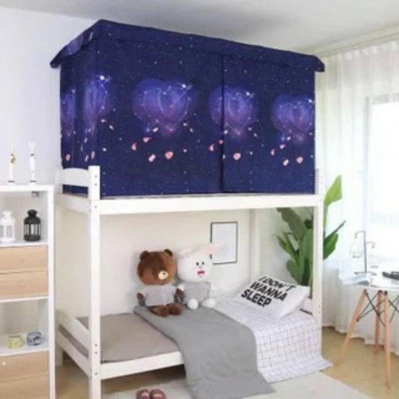 기숙사텐트 침대커튼 대학생 기숙사 싱글침대 2층침대의위아래침대 통기 반암막 범퍼가드 남녀학생 커튼, C04-1.5m(5피트)침대