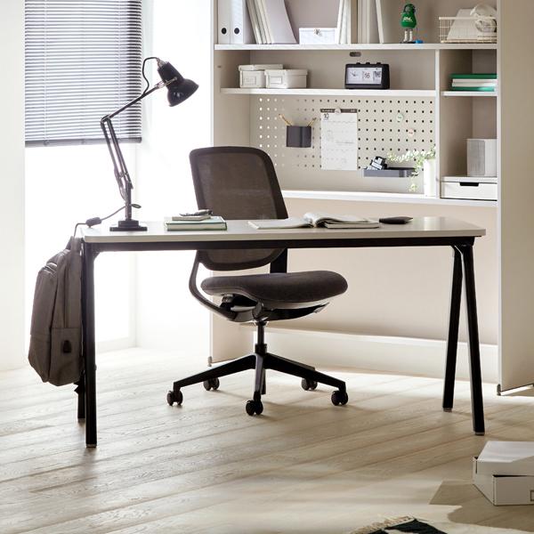 [일룸] 로이모노 다리형 책상 1400폭 (D600), 그레이+블랙(GYMBK)