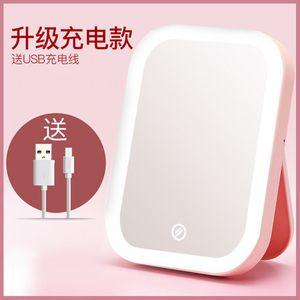 ksw42635 접이식 휴대용 LED 작은 드레싱 cm146 미러, 1, 핑크|구매