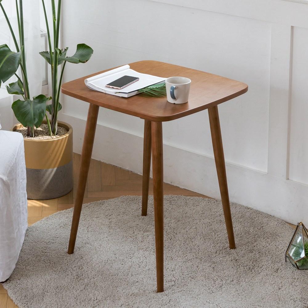 룸스퀘어 원목 카페테이블 커피테이블 티테이블 모음, 02_사각카페테이블600(브라운)