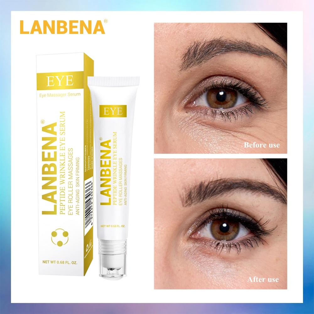 Lanbena ageless 콜라겐 펩티드 달팽이 페이셜 크림 아이 세럼 안티 링클 화이트닝 리프팅 여드름 치료 수리 다크 서, Peptide Eye Serum